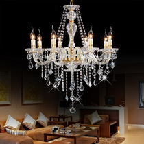 朗盛 尊贵豪华欧式金色吊灯蜡烛灯水晶灯卧室灯餐厅灯具M9075-8 价格:450.00