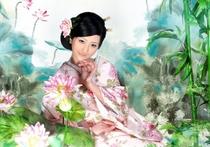 古装民族演出服日本民族服演出写真服新款女式和服表演服摄影写真 价格:85.00