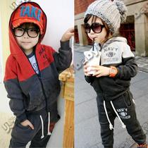 特价2013秋冬装韩版新款男童装女童装儿童抓绒休闲套装tz-0030 价格:49.90
