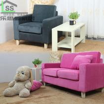 双人座沙发小户型布艺组合沙发 咖啡厅卡座网吧休闲吧单人沙发 价格:290.70
