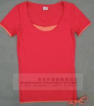 特价正品ESPRIT-EDC圆领女款假两件短袖T恤 价格:55.00