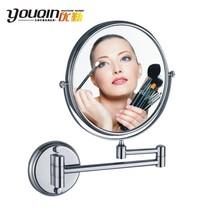 优勤卫浴 全铜双面美容镜化妆镜浴室镜子可三倍放大MM最爱1308 价格:75.00