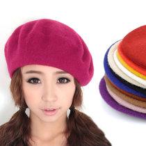 羊毛贝雷帽 女 款帽子韩版可爱女士帽子冬季帽子女帽冬天帽子B003 价格:9.80