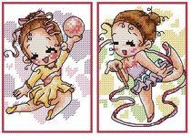 十格格 正品授权十字绣套件 卡包 卡套 BKB0566--体操娃娃2 价格:22.00