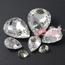 水滴型透明钻 异型钻手机壳材料包 手机壳美容diy配件批发特价 价格:0.68