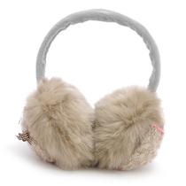 依吉饰 韩版可爱复古蕾丝蝴蝶结女士耳套 秋冬季超大耳包耳罩 6色 价格:33.00