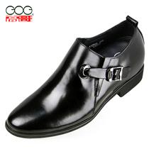 高哥内增高男鞋 男士增高皮鞋内增高男皮鞋漆皮增高鞋男式结婚鞋 价格:438.00
