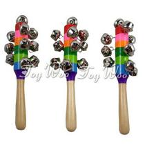 正品木制玩具 奥尔夫 乐器摇铃玩具彩虹摇铃幼儿园专供七彩虹手摇 价格:6.90