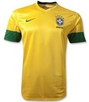top thai quality brazil shirt 2012-2013 home yellow jerseys 价格:68.00