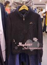 专柜正品ONLY 老款特价 黑色拉链带帽长袖卫衣/绒衫33001 女OL 价格:69.00