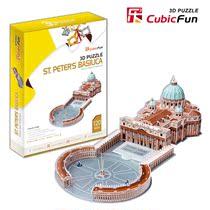 乐立方3D立体拼图纸模型建筑拼图 MC092梵蒂冈圣得大教堂儿童拼图 价格:111.00