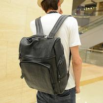 2013新款韩版男士双肩包学生包书包男女背包皮包运动学院风男包潮 价格:88.20