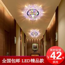 led水晶灯玄关灯门厅灯客厅过道灯走廊灯吸顶灯现代简约灯饰T390 价格:42.00