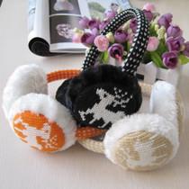 冬季韩版时尚雪花小鹿图案保暖耳套 男女士情侣兔毛耳暖 护耳包罩 价格:9.50