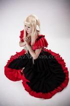 正品促销 人型电脑天使心小叽长裙 cos服装cosplay女装黑色连衣裙 价格:498.00