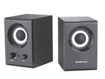 包邮正品 慧海D-166 2.0电脑有源音箱 木质烤漆时尚 迷你音响 价格:48.00