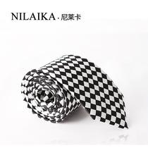 新款领带方块格子 男士正装领带 黑白相间商务经典款 时尚清新 价格:22.80