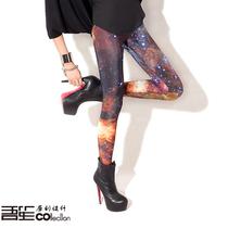 吾笙原创设计.数码印花.星系星空galaxy欧美风显瘦打底裤leggi 价格:199.00