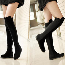 2013小辣椒过膝长靴子大码显瘦真皮平跟平底靴高筒靴棉靴女鞋包邮 价格:154.38
