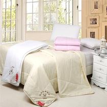 梦如花家纺 全棉贡缎蚕丝被 100%蚕丝 加厚冬被 被褥子 被芯促销 价格:126.00