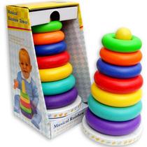 宝宝层层叠叠乐玩具音乐七彩虹层层叠不倒翁套圈套塔幼教玩具 价格:18.00