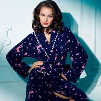 芬怡内衣专柜正品 女士家居服 长款摇粒绒睡袍 舒适保暖睡袍4286 价格:249.00