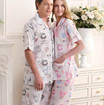 专柜正品 周末风 短袖 长裤薄款 纯棉男睡衣 家居服 套装 价格:58.00