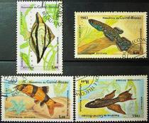 095   外国盖销邮票几内亚比绍1983年热带观赏鱼(4枚) 价格:1.00