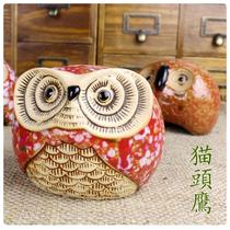 如果家居欧式田园风格猫头鹰储蓄罐陶瓷工艺品摆设摆件创意装饰 价格:18.00