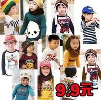 新款春秋装童装韩版宝宝衣服儿童服装女童男童t恤长袖纯棉打底衫 价格:9.90
