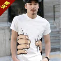 新款男装2013夏季修身型男士上衣服韩版半袖潮男生短袖T恤 纯棉 价格:25.00