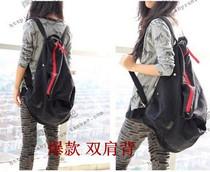 包邮韩版双肩包新款加厚帆布包时尚女包学生背包欧美风大包情侣包 价格:46.80