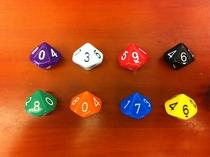 10面(0-9)龙与地下城多面骰子dice桌游DND万智牌道具TRPG色子筛子 价格:1.21