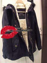 2012冬zara女装专柜正品羊羔毛蓝色连帽派克外套棉衣大衣5854/224 价格:319.00