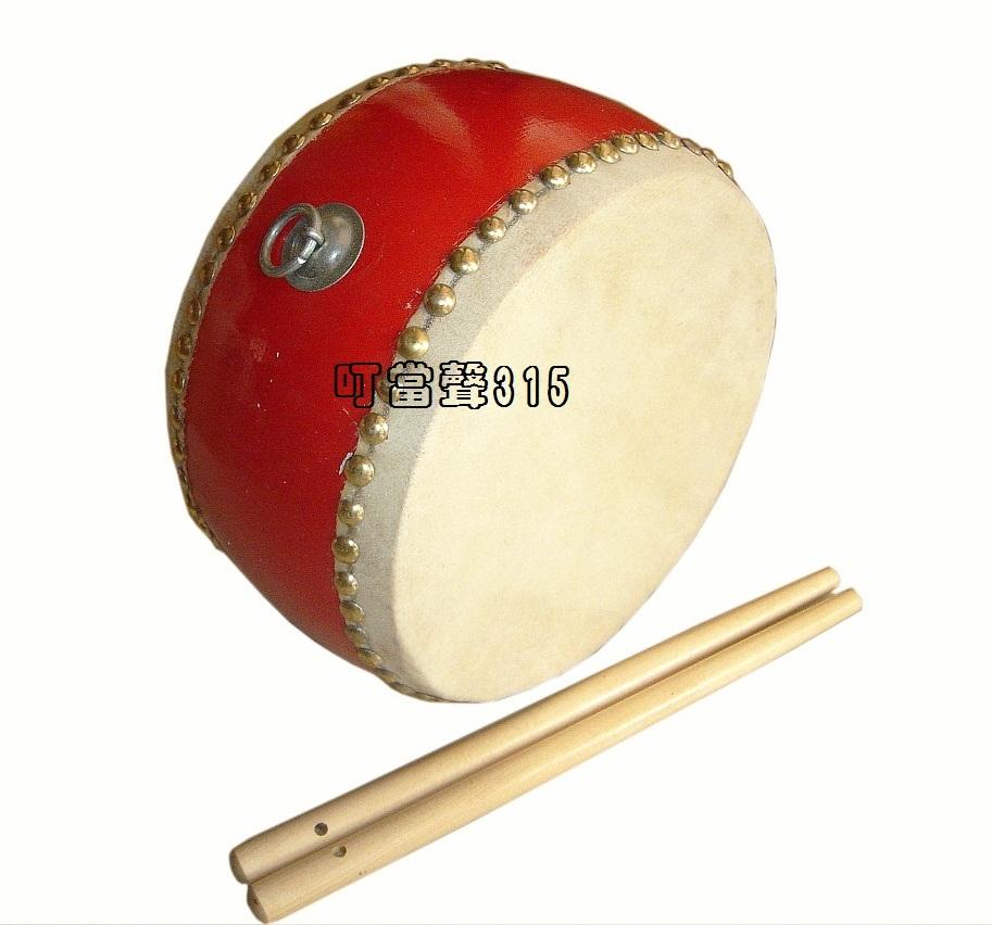 奥尔夫乐器玩具 幼儿园打击乐器 双面 正品儿童牛皮小堂鼓 价格:48.00