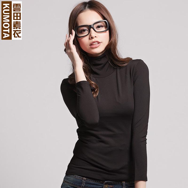 【vip购优汇】云田女装修身高领保暖打底衫韩版上衣长袖t恤女潮 价格:79.00