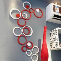 良匠尚品-创意墙饰·波尔卡圆环立体墙贴/门贴 电视背景墙装饰 价格:18.00