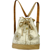 火部落书包女式帆布包 双肩包背包 韩版2013新款 百搭正品A1515 价格:88.90