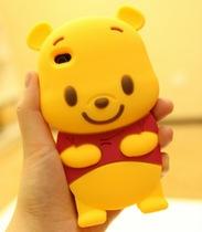 可爱 卡通维尼熊iPhone4s 5 4手机壳小熊维尼苹果4硅胶套保护套女 价格:15.00