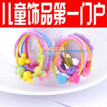 月销上万 儿童发绳头绳 可爱多色5根超值价 儿童头饰发饰发圈饰品 价格:0.50