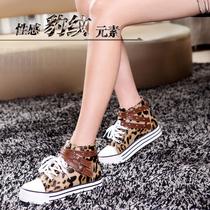 2013明星奢爱欧美韩版时尚豹纹格子布松糕鞋高帮鞋休闲女鞋单鞋 价格:148.00