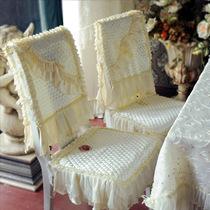 猛士美居餐桌椅套椅垫椅子坐垫餐椅套欧式布艺水晶丽人餐椅两件套 价格:120.00