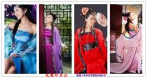 女古装、唐装、古典演出服 COS 汉服古代服古筝服 影楼民族服唐风 价格:48.00