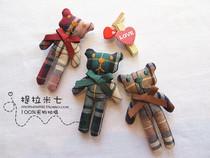 2013韩国可爱小熊蝴蝶结胸针儿童卡通英伦风布艺胸花别针 精致 价格:16.00