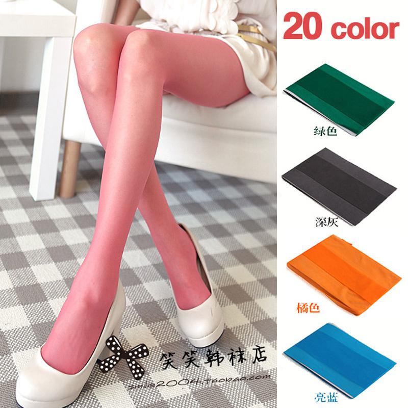 韩国新款夏款 丝袜子 夏季超薄彩色显瘦连裤袜 女SW028  特价 价格:10.50