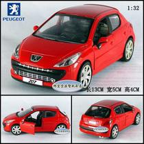 三款包邮 1:32 标致Peugeot 207 红 合金汽车模型 声光版 价格:32.00