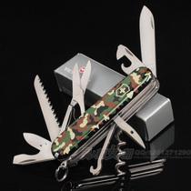 专柜正品 原装进口维氏瑞士军刀 猎人迷彩1.3713.94 多功能猎刀 价格:155.00