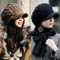 帽子 女 冬天 韩版毛线帽女韩国秋冬季全羊毛针织帽护耳帽 价格:26.00