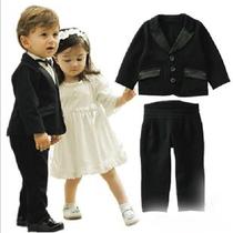 春秋装儿童装男童绅士套装花童礼服西服幼儿周岁西装周岁宝宝西服 价格:55.10