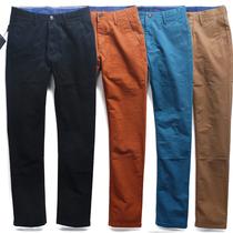 新品~专柜品质OB 修身直筒型 韩版 黑蓝卡其橘色多色 休闲裤 男 价格:120.65